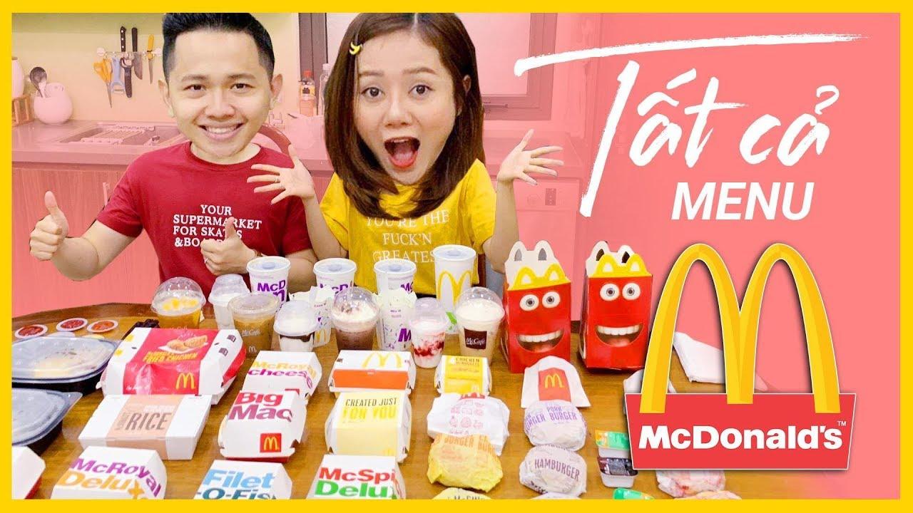 ĂN HẾT TẤT CẢ MENU MCDONALD'S | EAT EVERYTHING AT MCDONALD'S VIETNAM
