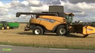 Amazing big tractor in action. Modern farming technology,new agricultural technology