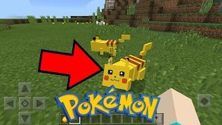 SAIU ! POKEMON NO MINECRAFT POCKET EDITION ! (Minecraft PE)