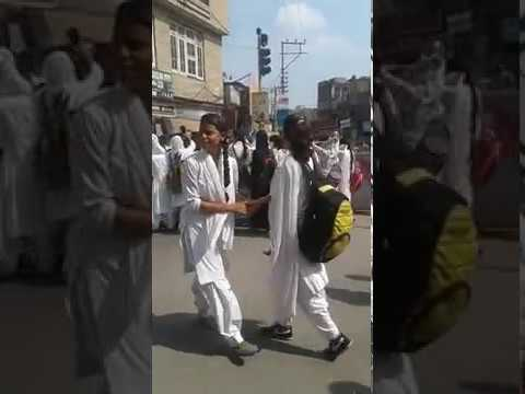 Women College Parade Jammu Protest || latest video || Jammu news || PDM