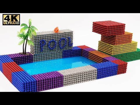 DIY How To Make Beautiful Swimming Pool with 12000 Magnetic Ball (ASMR) | Magnet World 4k