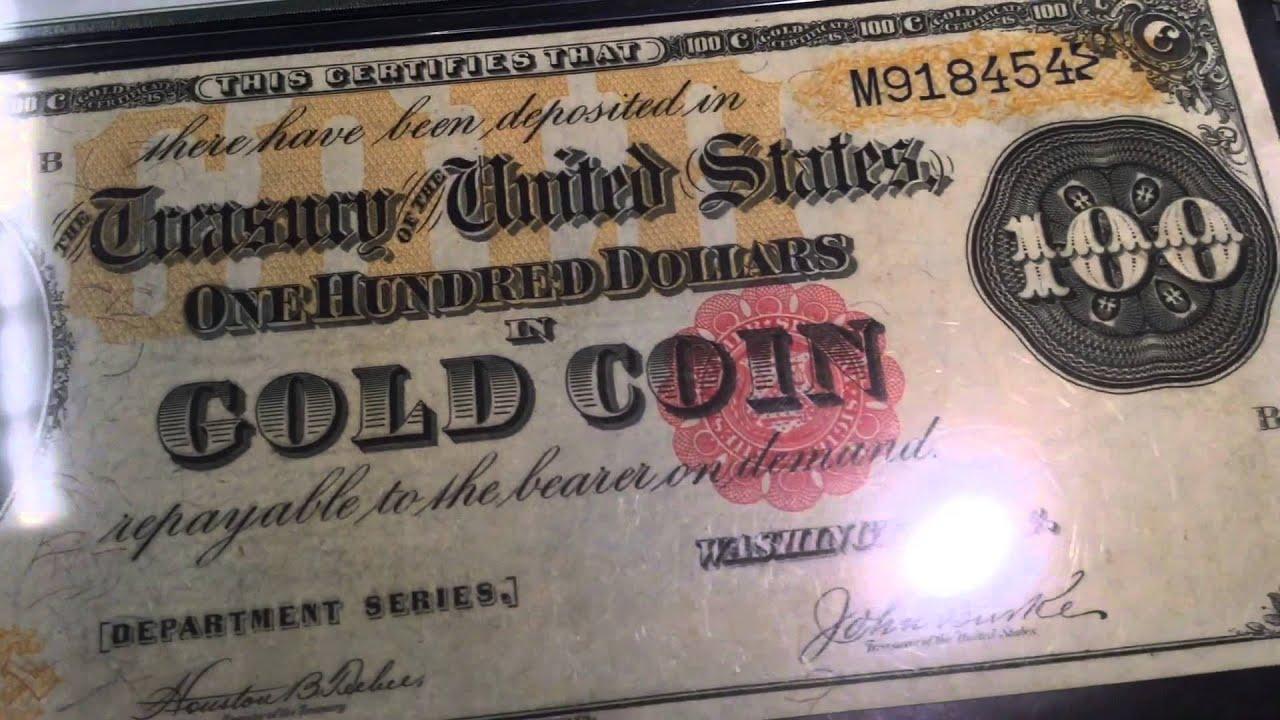 Rare Gold Certificates Youtube