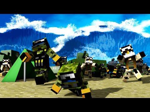 Minecraft | TSUNAMI RESCUE CHALLENGE - Tsunami Destroys City! (Can We Save The Army?)