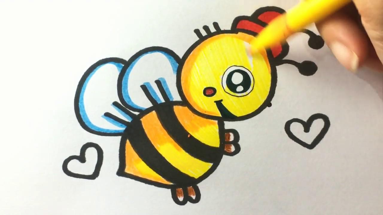 Belajar Menggambar Dan Mewarna Lebah Madu Untuk Anak