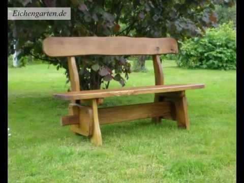rustikale gartenbank youtube. Black Bedroom Furniture Sets. Home Design Ideas