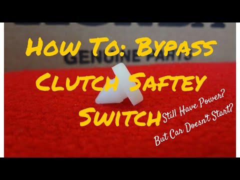 How to: Clutch Safety Switch Bypass - FIX NO START - YouTube
