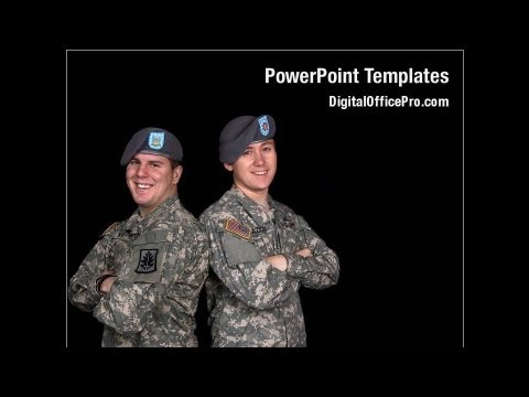 Military PowerPoint Template Backgrounds - DigitalOfficePro #01629