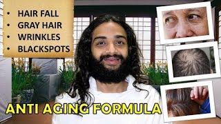 ANTI AGING FORMULA: HAIRFALL, WRINKLES, FINELINES, DARKCIRCLES & BLACKSPOTS ETC BY NITYANANDAM SHREE
