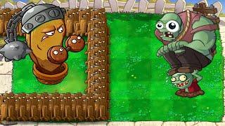 Plants vs Zombies  - Giant Wall-nut vs 99999 All Zombie