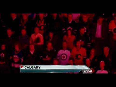 TRUE NORTH! Canadian Anthem - NHL Winnipeg Jets on Global National 2012-03-13