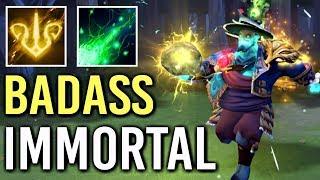 NEW BADASS GOLDEN IMMORAL Storm Spirit + Eminent Orchid Best Effect Gameplay Comeback WTF Dota 2