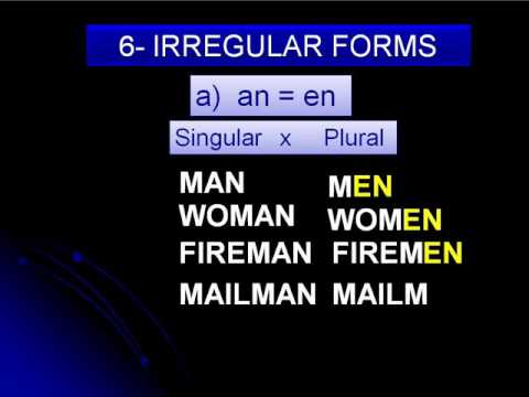 Plural form - YouTube