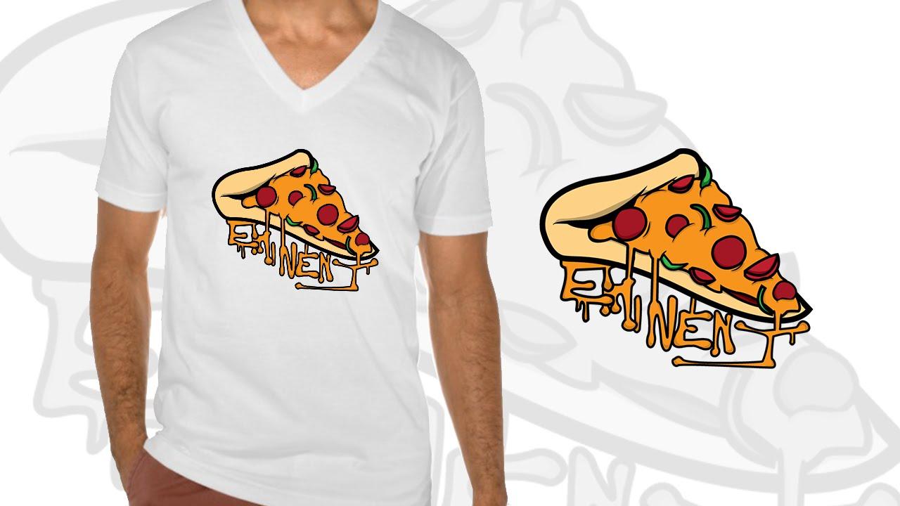 Eminent Pizza T Shirt Design by Monsturr - YouTube