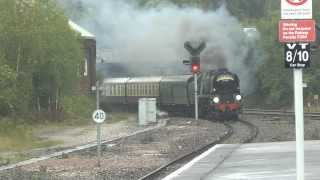 1Z28 34046 Braunton on the last Torbay Express passing Newton Abbot 15/09/2013