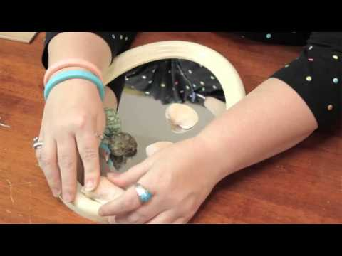 Tips on Putting Seashells on a Mirror Frame : Cute Crafts