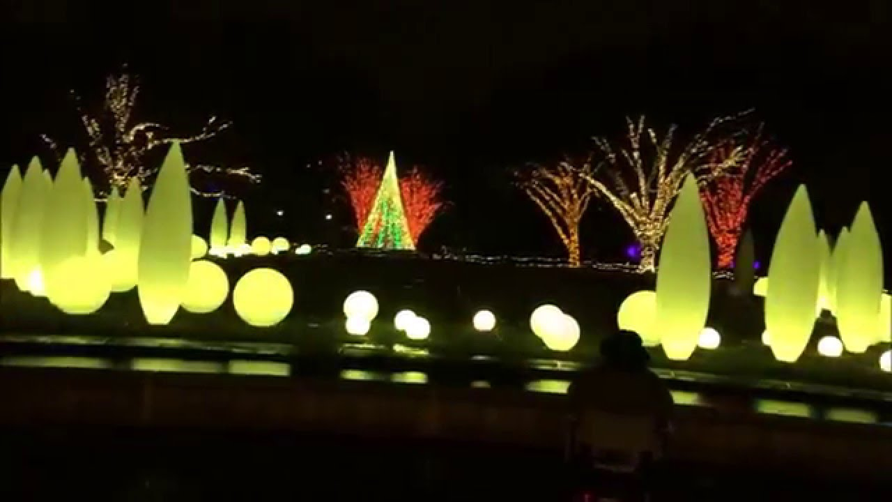 Atlanta botanical garden Christmas forest of light show 2015 - YouTube