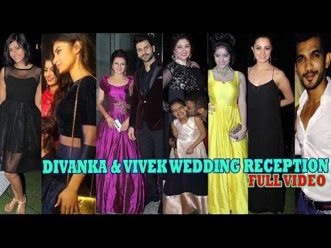 Wedding Reception Of Divyanka Tripathi And Vivek Dahiya in Mumbai | FULL VIDEO