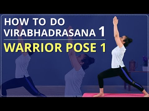 how to do virabhadrasana 1 stepstep for beginners