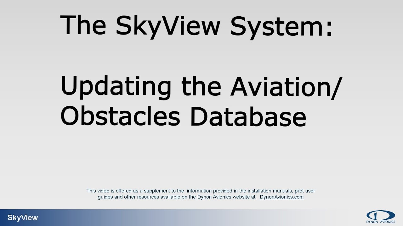 Updating the FAA Aviation and Obstacles Databases