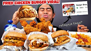 BURGER BROS 200 RIBU CHALLENGE! (FRIED CHICKEN BURGER VIRAL)