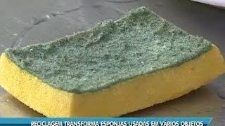 Reciclagem transforma esponjas usadas em vários objetos