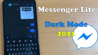 How To Enable Dark Mode In Messenger Lite on Android 10 Device screenshot 5