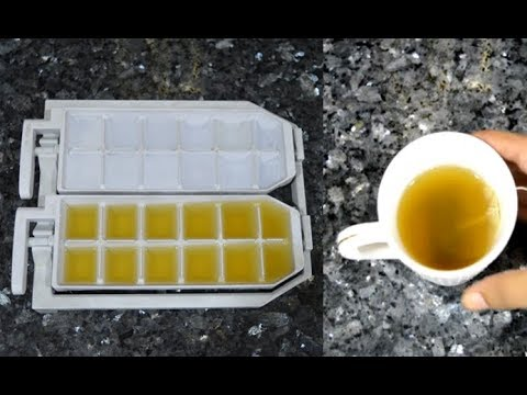 DIY Green Tea Ice Cubes For Face | Benefits of Green Tea Ice Cubes on Face | Beauty Express