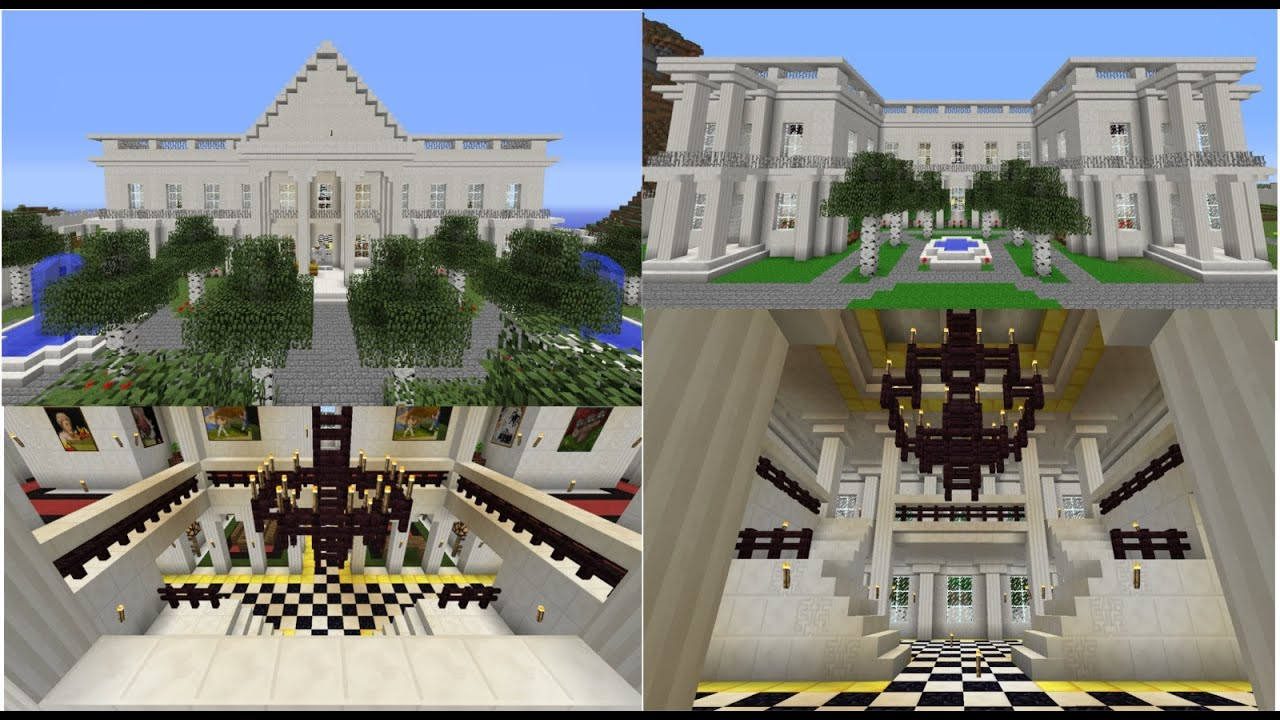 Mansion Build Using Quartz Blocks White House Inspired Minecraft ... - ^