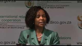 Minister Maite Nkoana Mashabane Briefing Media on International Developments 15:05:2015