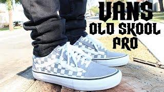 Vans Old Skool Pro Grey Checkerboard On