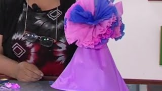 Como Hacer un Bolsa de Regalo con Flor de Papel Seda - Hogar Tv  por Juan Gonzalo Angel