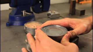 How to Open a Can without Can Opener - Zombie Survival Tips #20 thumbnail