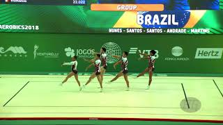 Brazil (BRA) - 2018 Aerobic Worlds, Guimaraes (POR) - Group Qualifications