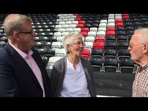 The Pat Price Stand - Surprising Pat's family. Widnes Vikings