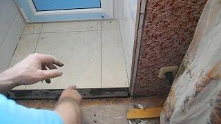 Делаем порог на балкон из гипсокартона