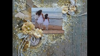 love mixed media shabby chic scrapbooking layout my creative scrapbook