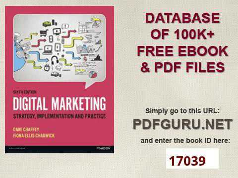 digital marketing strategy implementation and practice 6th edition pdf