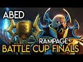 Abed Invoker Boss RAMPAGE in the Battle Cup Finals Combo God Dota 2
