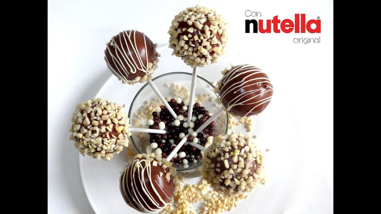 Receta De Cake Pops Nutella Fáciles Chocolate Con Molde You
