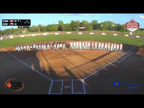 Czech Republic v Canada – WBSC Junior Men's Softball World Championship 2018