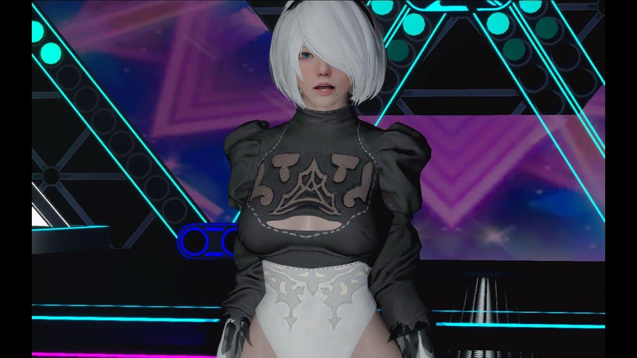 스카이림 - 2B clothes nier automata skyrim mod