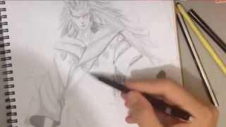 How to draw Madara Uchiha [ Rikudou Sennin ]