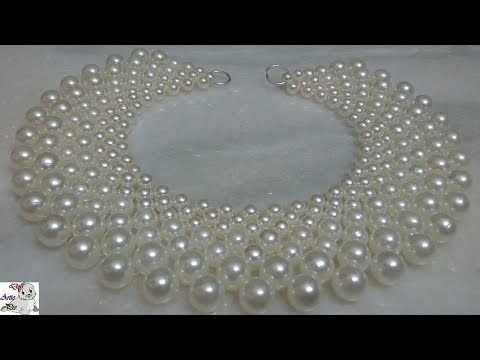 #1 How to make Pearl Beaded Necklace || Diy || Jewellery Making