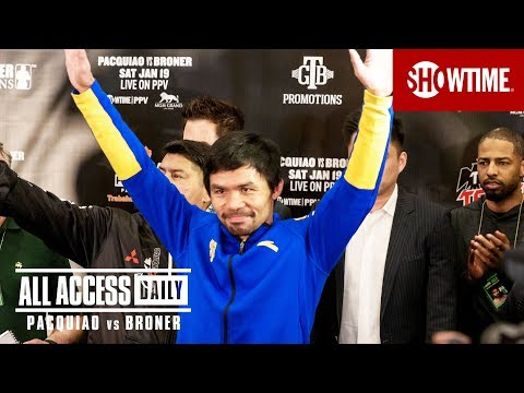 ALL ACCESS DAILY: Pacquiao vs Broner  Part 1  Sat Jan 19 on SHOWTIME PPV