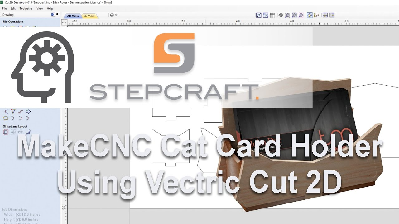 Cat business card holder puzzle tutorial on a stepcraft cnc using cat business card holder puzzle tutorial on a stepcraft cnc using vectric cut 2dvcarve reheart Images
