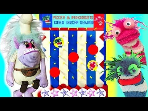 Save Fingerlings & Trolls with Disk Drop Game Toys Chef | Fizzy Toy Show