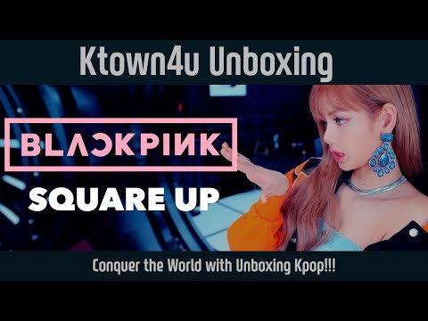 [Ktown4u Unboxing] BLACKPINK - 1st Mini [SQUARE UP] 블랙핑크 스퀘어업 언박싱