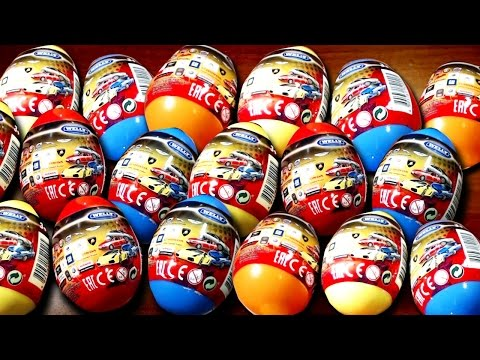 Машинки Welly Киндер-Сюрприз! Открытие Surprise Eggs Welly Cars