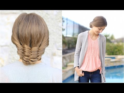The Woven Updo | Cute Girls Hairstyles