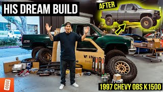 Surprising our EMPLOYEE with his DREAM TRUCK BUILD! (Full Transformation) : Chevrolet OBS K1500